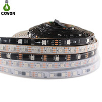 DC12V WS2811 Pixel programável LED 5050 60 LEDs / M IP20 IP67 PCB preto PCB Endereçável RGB LED Tira