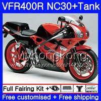 키트 혼다 용 RVF400R V4 VFR400R 1989 1990 1991 1992 1993 레드 핫 블랙 269HM.35 VFR400 RVF VFR 400 R NC30 VFR 400R 89 90 91 92 93 페어링