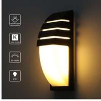 Lemonbest Lâmpada de parede impermeável ao ar livre parede LED luz AC90-260V alumínio pátio com jardim Alpendre Corredor Luzes retro lâmpada de parede