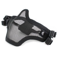 New Outdoor Tactical Fantasma Malha Airsoft Máscara Emerson Paintball Meio Rosto Proteção Estilo de Caça Acessórios