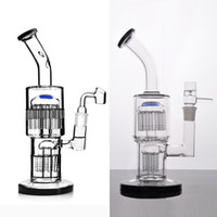 Toro-Recycler Bubbler-Glasbongs mit diffusem Doppelarmbaum Perc-Wasserleitung DAB-Rig mit 18 mm Gelenk