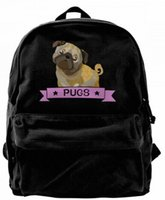 Pugs dog Canvas Shoulder Backpack Cute Backpack For Men & Wo...
