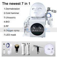 Portable 7 in 1 Hydrafacial Water Peel Microdermabrasion Hydro Dermabrasion Facial Microcurrent Face Lift Ultrasonic Skin Care Machine