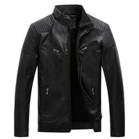 Erkek Deri Ceket Kış Coat Erkekler Sahte Coats Biker Motosiklet Erkek Klasik Ceket Üst Kalite Artı boyutu 3XL 9.25 Güz
