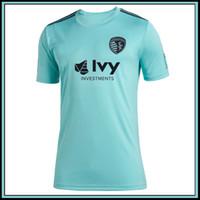 2019 MLS Parvele Sporting Kansas City Teal Jerseys Футбол Джерси Футбол футболка 19 20 мл Parvele Sporting Kansas City Teal футбол