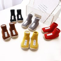 1pair Baby Walking Shoes Boy Girl Soft Anti Slip Indoor Shoes cotton Socks with Rubber Soles Newbring Summer Floor Socks