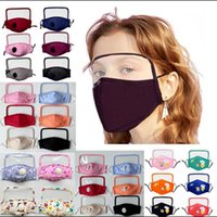 Cotton Face Mask With Breath Valve Anti-Dust Adult Kids Washable Masks PM2.5 Clear Screen Shield Mask YYA143