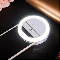 Yeni Varış LED Işık USB Özçekim Işık Halka Işık Telefon Şarj Edilebilir Flaş Lambası tüm cep telefonları için Özçekim Halka Aydınlatma Kamera ...