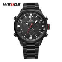 WEIDE Mens Sport Top Luxury Brand Quartz Movement Water Resistant Relojes Hombre Fashion Casual Alarm Digital Wristwatch Clock