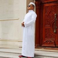 Abbigliamento etnico Abbigliamento Arabi Saudita Thobe Arab Aral Abiti Abaya Kaftano uomo Kaftano Islamico Abiti Islamici Maschile Musulmano Vestito Servizio Collare