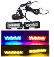 빛 자동 경찰 LED 바 비상 조명 차량 표면 마운트 경고 차 트럭 전면 그릴 LED 스트로브 플래시 황색 lighthead