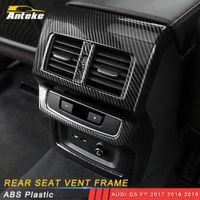 Accessoires voiture Retour arrière A / C Vent de sortie d'air Couvercle Garniture Cadre autocollant Décoration pour Audi Q5 FY 2017 2018 2019