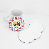 Sublime Coaster mdf Özelleştirilmiş Yuvarlak Coaster Kahve Mug Mat termo Yastık Tutucu Isı Transfer Baskı Altlıkları A02