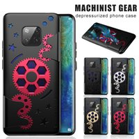 For iPhone 11 Pro Max XS Max Huawei Mate 20 P30 Pro Mechanical Gear Phone Case Rotating Gear Decompression Shockproof Covers with OPP Bag