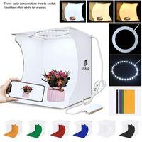 Mini Ring Leuchtkasten Falten Tragbare Foto Studio Box Fotografie Softbox Lichtkiste Studioaufnahme Zelt Box Kit mit 6 Kulissen