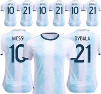 2019 Аргентина футбольные майки Аргентина домашняя футбольная рубашка 2018 #10 Месси #9 Агуэро #21ДЫБАЛА #11 Ди Мария выездная футбольная форма размер S-3XL