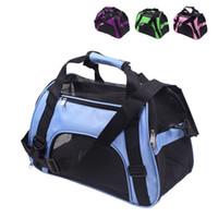 Borse pieghevole Pet Carrier Bag Carriers del cane del gatto Carrier in uscita pacchetti di viaggio traspirante Roditori borsa imbracature