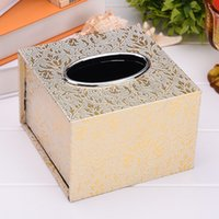 Car Tissue Box Hotel Living Room Napkin Box Silver Mouth Tra...