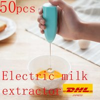 50Pcs Milk Drink Coffee Whisk Mixer Electric Egg Beater Frother Foamer Mini Handle Stirrer Practical Kitchen Cooking Tool