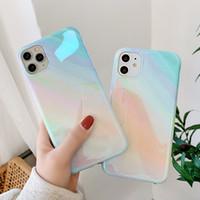 Blu-ray Glitter iPhone Phone Case Para 11 Pro Max XR XS Max 7 8 Plus X macio iPhone IMD Glossy tampa traseira para 11 caso presente