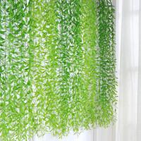 10шт Planta искусственные растения тропические листья ивы листья висячие виноградные лозы для Diy Weding украшения сада домашнего декора аксессуары пластик