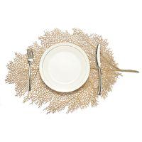Yemek Masası Bardaklar için Placemat Yaprak Simülasyon Bitki PVC Kupası Sehpa Paspaslar Mutfak Noel Ev Dekor Hediyeler Oymak
