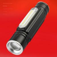 Petite lampe de poche en alliage d'aluminium avec un mini-COB de charge intelligente USB magnétique puissant zoom lampe de poche mulfuntion