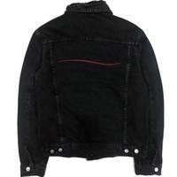 크기 M-XXL 겉옷 유명한 남성 데님 자켓 남성 여성 높은 품질 캐주얼 코트 블랙 블루 패션 남성 코디 재킷