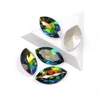 Nail Art Decorações Yanruo 4227 Alta Qualidade Glitter Crystal Rhinestones VM Naveta Naveta Forma de Forma Strass 3D Vidro para