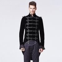PUNK RAVE hommes victorienne gothique hirondelle queue veste noire Club Party Halloween hommes robe manteau mens coupe-vent vestes