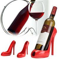 ارتفاع كعب الحذاء النبيذ حامل زجاجة النبيذ الاحمر شماعات الرف دعم القوس اكسسوارات بار الجدول الديكور الحديثة نمط دعائية جديدة