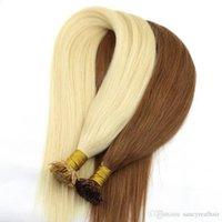 Büyük Kalite 200g 200Strands Öncesi bağlı Düz Tip Saç Uzantıları İnsan saçı 12 14 16 18 20 22 24inch Keratin Hint saç