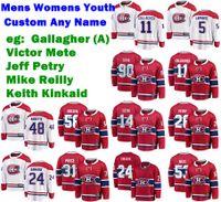 Mens personalizado Montreal Canadiens Jerseys Victor Mete Jersey Brendan Gallagher Jeff Petry Keith Kinkaid Mike Reilly Ice Hockey Jerseys costurado