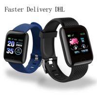Großhandel Uhr D13 Smart Uhren 116 plus Herzfrequenzuhr Smart Armband Sport Uhren Band Wasserdichte Smartwatch Android A2 Armband