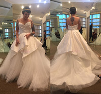 2019 White Ivory Ball Gown Wedding Dress Strapless Princess ...