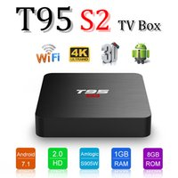 Android 7. 1 TV Box T95S2 Quad Core 1G 8GB Amlogic S905W 4K M...