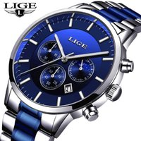 LIGE 2020 New Fashion Mens Watches with Stainless Steel Top ...