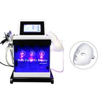 5in1 Hydro dermabrasion Visage Machine D'eau Peeling Diamant Microdermabrasion Machine Soins du visage rajeunissement de la peau LED masque facial
