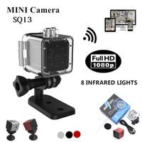 SQ13 WIFI Su Geçirmez Kamera 1080 P HD Video Kaydedici Kızılötesi Gece Algılama Mini Cam 155 Derece Rotasyon Dijital Kamera Spor DV Kaydedici