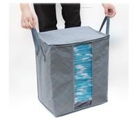 لحاف الملابس تخزين أكياس سميكة المنسوجة غير المحمولة خزانة منظم حفظ الفضاء طي مكافحة الغبار الحقيبة صندوق للسادة غطاء EEA1410-8