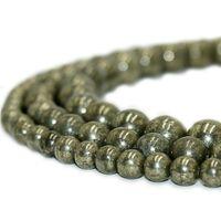 Cuentas de piedra naturales redondas Pirita Piedra preciosa Energía Piedra Curación de las perlas sueltas para las mujeres Pulsera DIY Joyería Fabricación 1 Strand 4 6 8 10mm