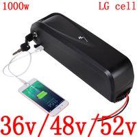 36v 48v 52v Lithium-Batterie 36v 48v 52v 10Ah 13Ah 17Ah 20Ah elektrische Verwendung lg Zelle Zellen-Akku für 500W 750W 1000W ebike Motor