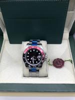 2020 Nouvelle arrivée Mens Watch Pepsi GMT Watch Mouvement automatique Céramique Bezel Sapphire 40MM Dial Jubilé Mens Montre Homme horloge