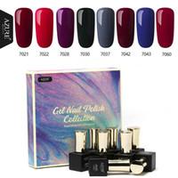 Azure 8PCS 7 ml unhas de gel polonês Set Kit Classic Cor Red Gel laca Soak Off UV Lâmpada de Longa Duração Glitter UV Gel
