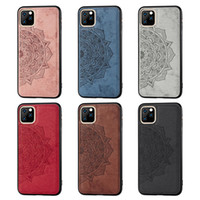 Canvas projeto gravado couro Magnetic Cell Phone Cases para Iphone 12 Mini Pro Max Xiaomi Poco X3 NFC Samsung Galaxy móvel S20
