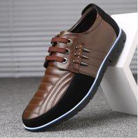 Qwedf Мужчины натуральная кожаная обувь Высококачественная эластичная полоса мода дизайн сплошной прочность удобные мужские туфли большие размеры ZY-251