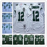 NCAA Jersey Vintage Randall Cunningham Harold Carmichael Seth Joyner Reggie Montgomery Blanco Verde cosido los jerseys del fútbol de los hombres