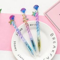 1 Adet Bling Gradyan Prenses Shell kolye Jel Kalem Okulu Büro Supply 0.5mm siyah mürekkep kalem plastik jel kalem Kırtasiye aracı