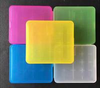 Taşınabilir Taşıma Kutusu 18650 Pil 6 renk mevcut için 18.650 Pil Kılıf Depolama Akrilik Kutusu Renkli Plastik Kasa
