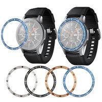 Cubierta de la caja de engranajes S3 Galaxy Bisel de reloj Samsung 46mm 42mm Bisel aleación anillo adhesivo cubierta que aisla los arañazos